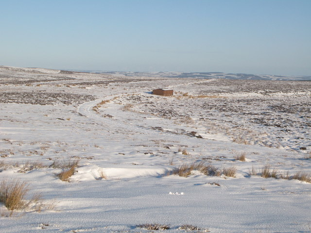 Snowy panorama from the Foumart Hills (5: NE - The headwaters of Lambsrigg Sike)