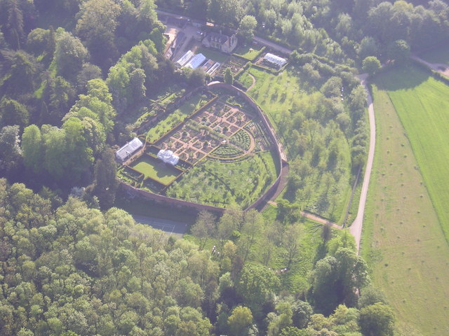 Aerial view of Daylesford Walled Gardens