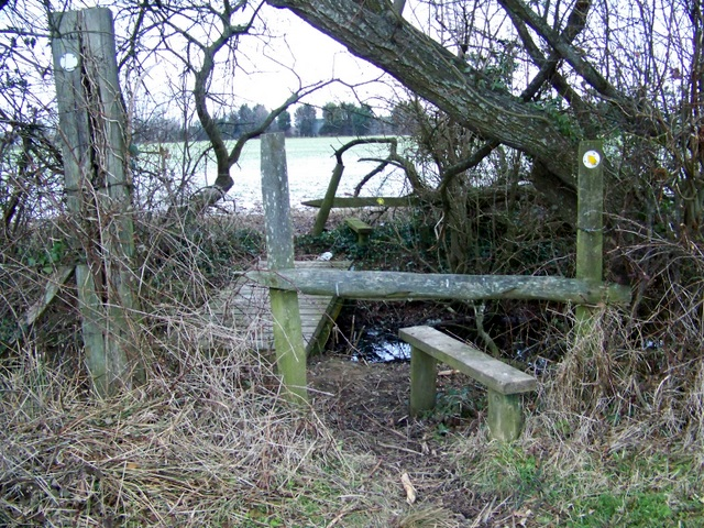 Double stile near Sturminster Marshall