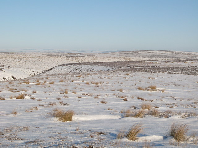 Snowy panorama from the Foumart Hills (6: NNE - Great Lawsley and the cleugh of Lawsley Sike)