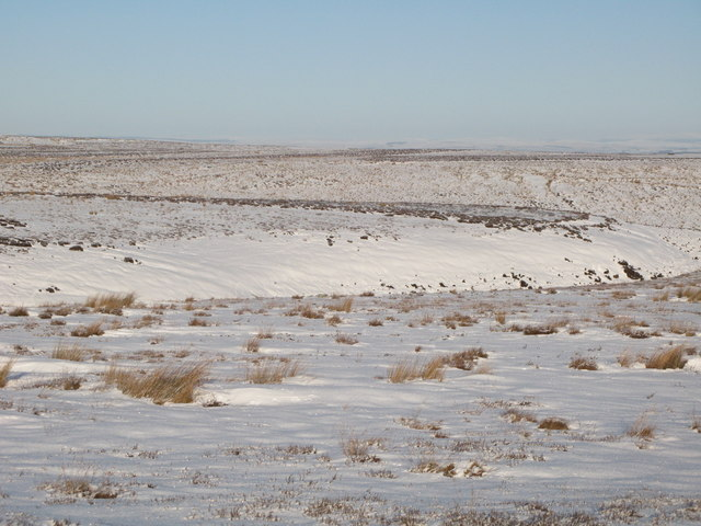 Snowy panorama from the Foumart Hills (7: N - The headwaters of Lawsley Sike)