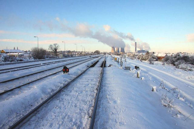 Looking down the Up Relief at Didcot