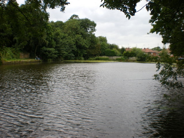 Man made lake north of St Peter's Church