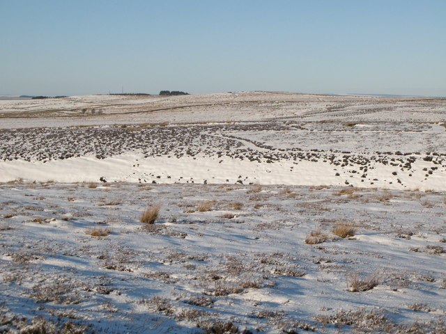 Snowy panorama from the Foumart Hills (9: NW - Chat's Fell Gate and Catton Beacon)
