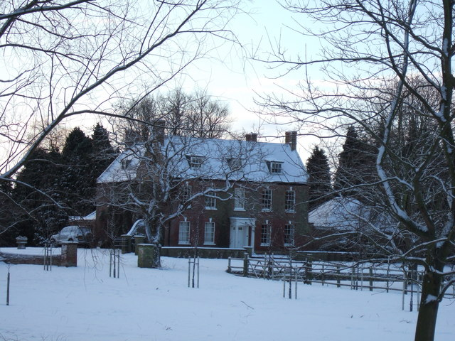 Snow capped hall