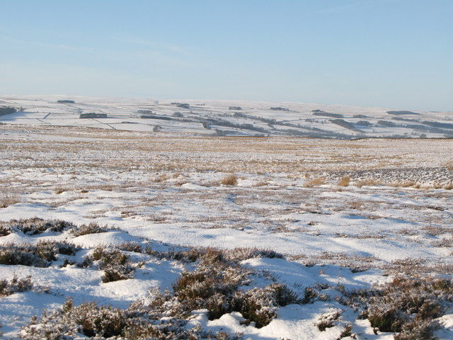 Snowy panorama from the Foumart Hills (11: W - East Allen Dale)