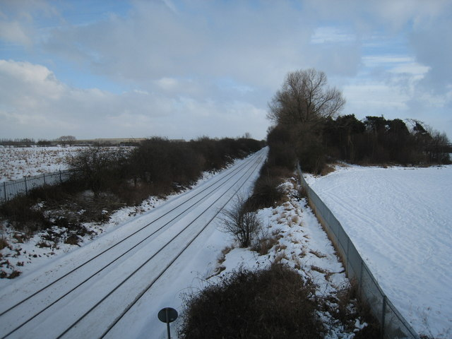 Darlington-Middlesbrough Railway (view east)