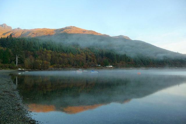 Shore of Loch Long by Ardgartan campsite