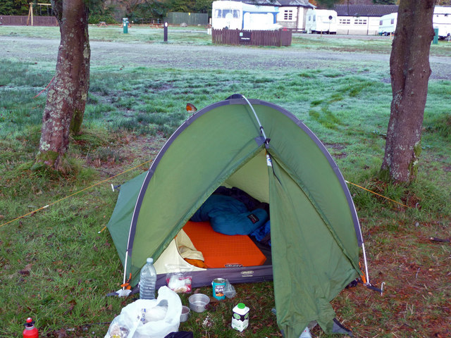 Ardgartan camp-site on a crisp October morning