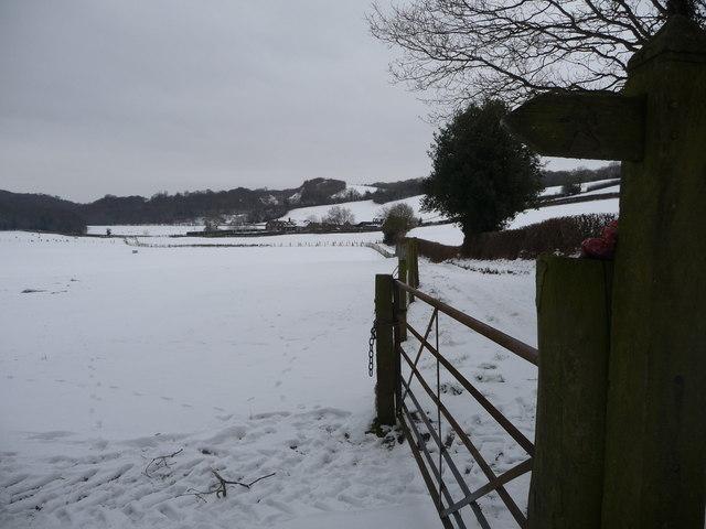 Snowscene near the Wrekin
