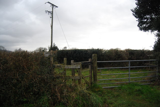 Kissing gate by the lane to Bossington