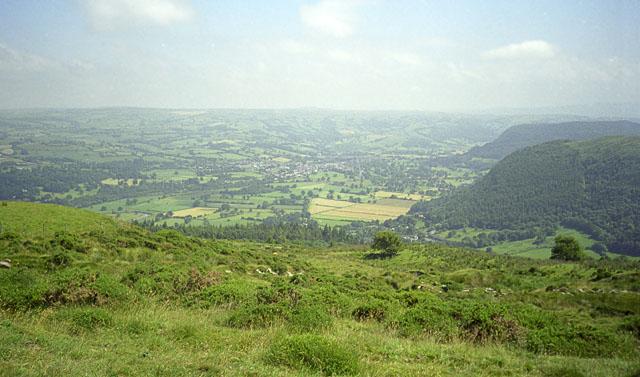 Upper Conwy valley from Cefn Cyfarwydd