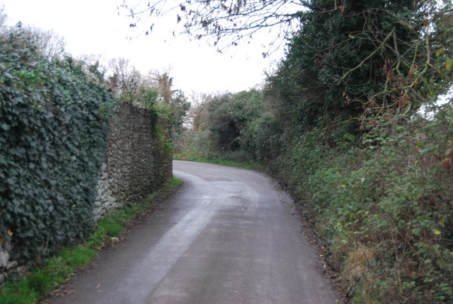 Bend in the lane to Bossington
