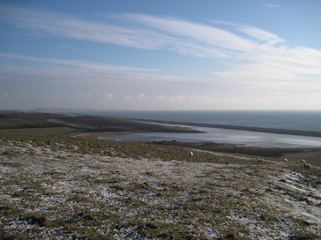 Chesil Beach from Chapel Hill