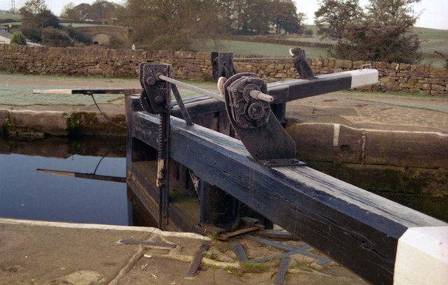 Frost on the lock gates