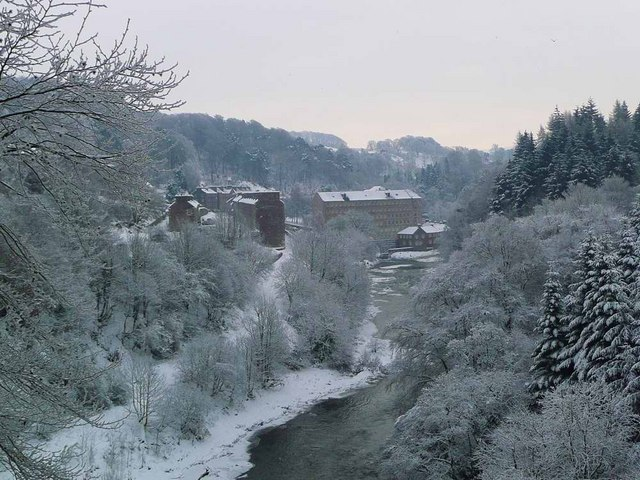 The big freeze at New Lanark