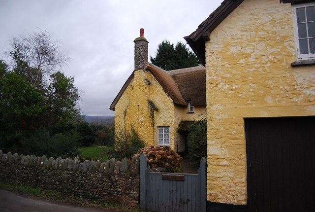 Yellow thatched cottage, Bossington