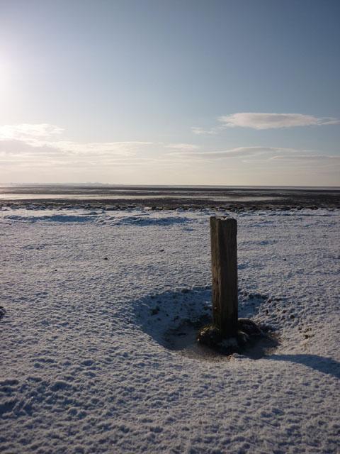 The last post, Warton Sands
