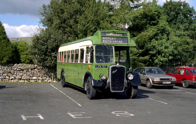 Preserved bus at Malham