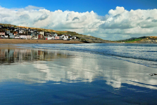 Seafront Reflections ~ Lyme Regis