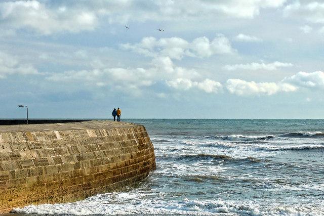 A Walk Along The Cobb ~ Lyme Regis