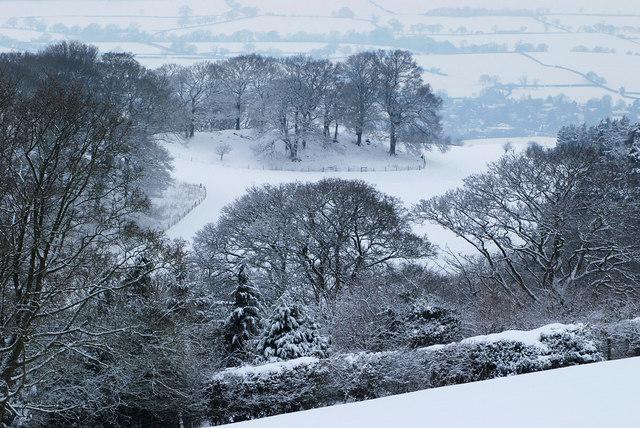 Shropshire under snow.