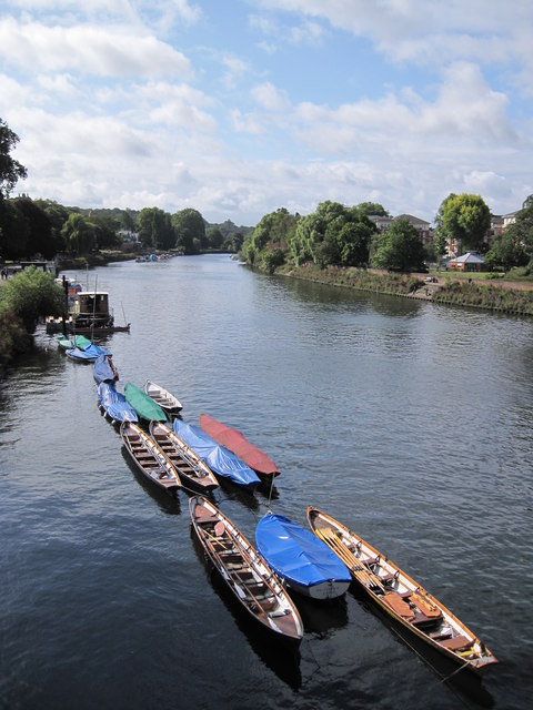 Moored Boats on the Thames at Richmond