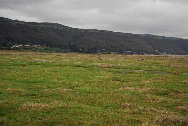 Salt Marsh behind the shingle ridge.
