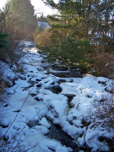 Abhainn Choishleadar in winter