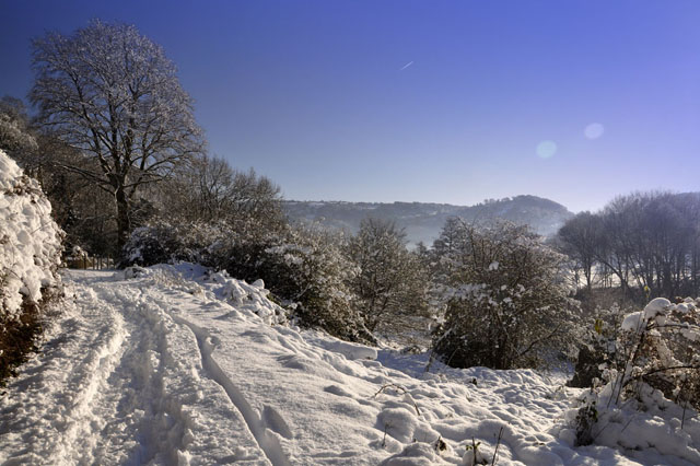 Snow in the Wye Valley