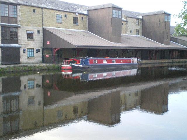 Canal Barges at Eanam Wharf Blackburn