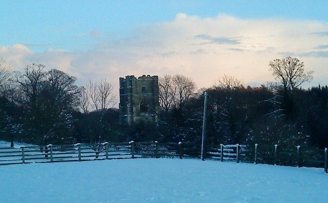 Huby's Tower, Winter Sun