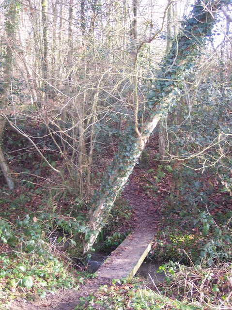 Footbridge near Copthall Wood