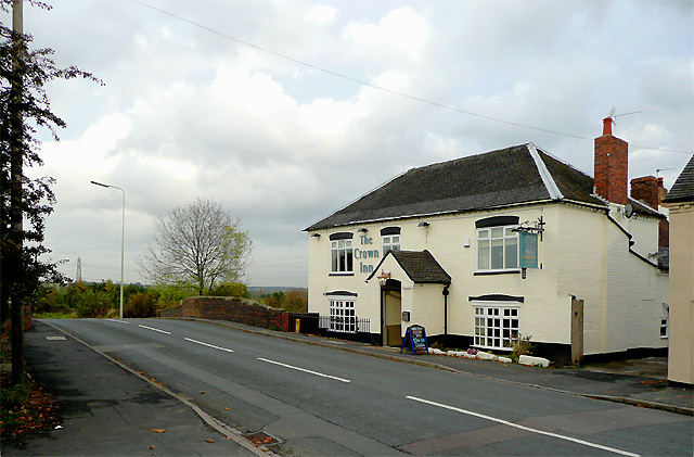 The Green and The Crown Inn at Handsacre, Staffordshire