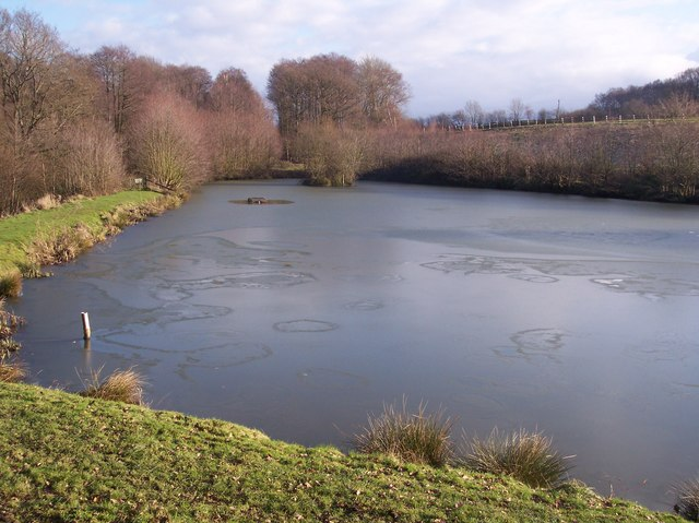 Frozen Pond below Owl's Castle