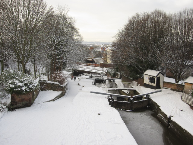 Northgate Locks in the snow