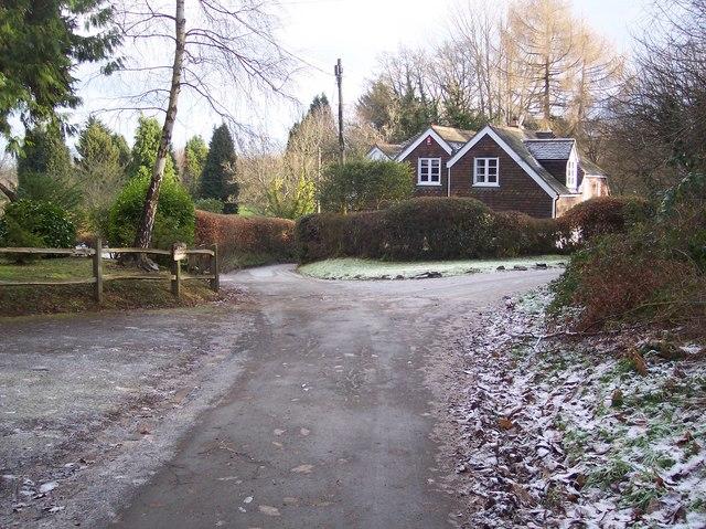 Lane junction on Hoghole Lane
