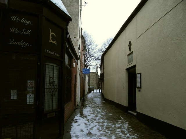 Church Lane leading to Paternoster Row