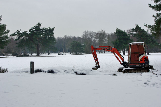 Digging up the golf course?