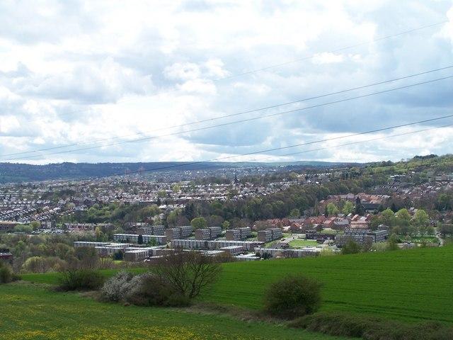 Winn Gardens and Wadsley, from Midhurst Road, Birley Carr, Sheffield