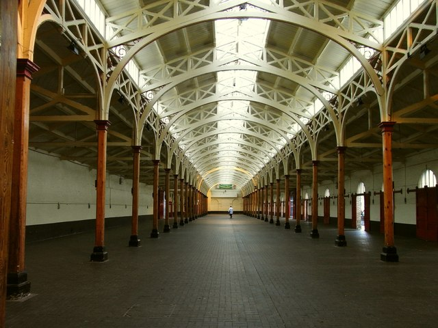 The Pannier Market facing the rear of the building