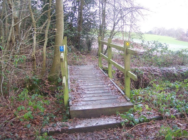 Footbridge on the Kent and Sussex Border