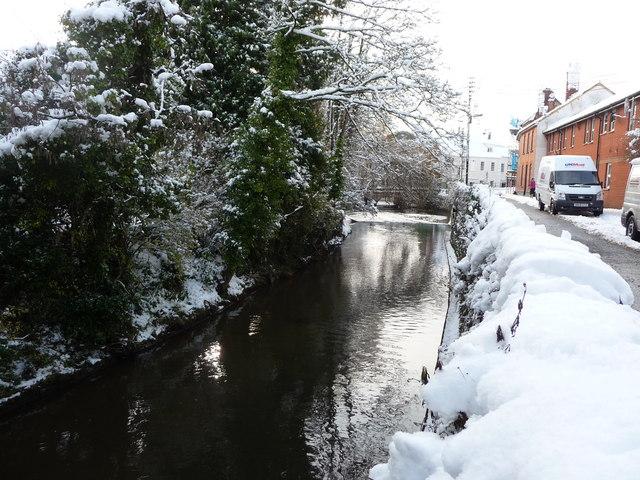 Tiverton : River Lowman by Chapel Street