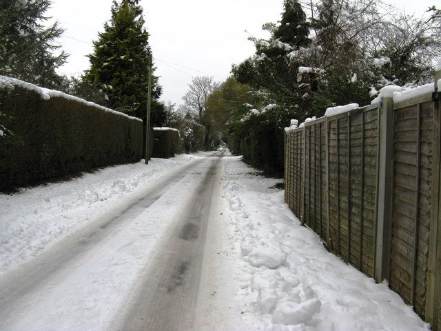 View NW along Duke's Road Fontwell