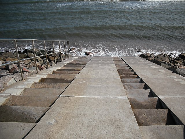 Steps, Carnoustie sea wall.
