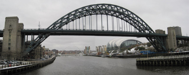 The Tyne Bridge and the River Tyne