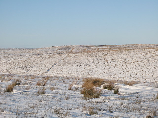 Snowy moorland east of Black Hill