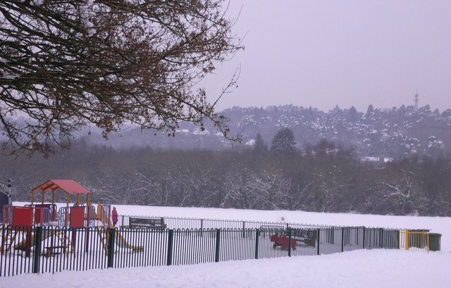Play area in Camelsdale recreation ground
