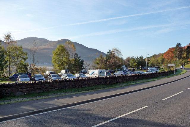 Loch-side car park at Succoth