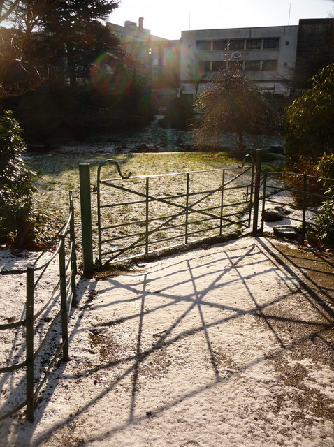 Bournemouth Gardens: a gate and its shadow